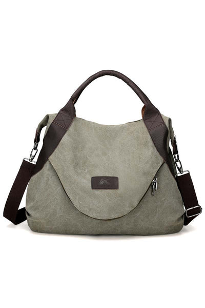 Zip Flap Extra Large Canvas Tote Bag
