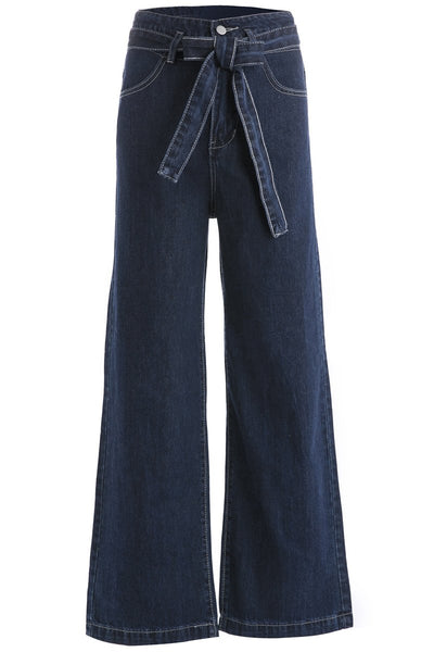 Belted Wide leg Jeans