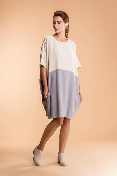 Oversized T-shirt Dress in Colour Block