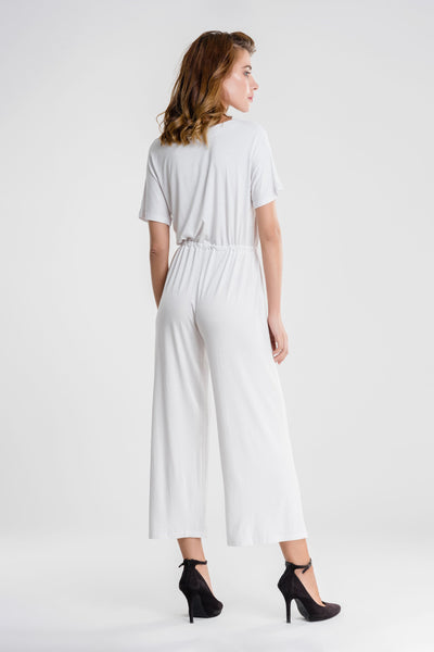 Casual V Neck Jumpsuit