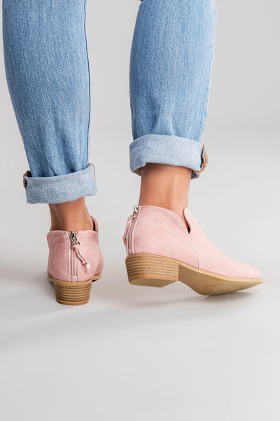 Western Cut Out Ankle Boots