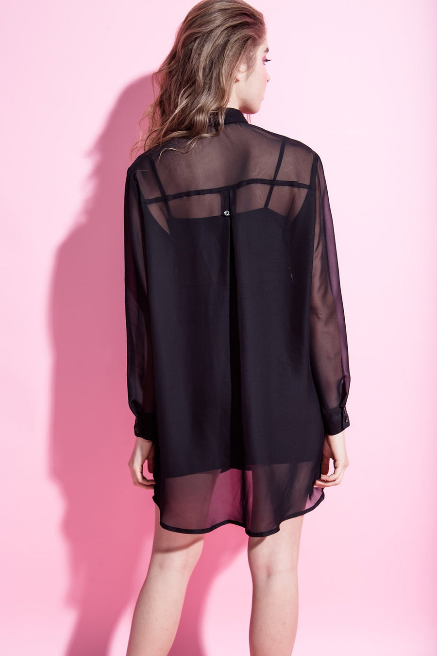 Ksusha Chiffon Shirt Mini Dress