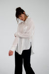 Ksusha White Cotton Loose Shirt