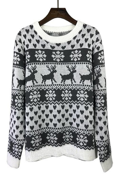 Reindeer Themed Sweater