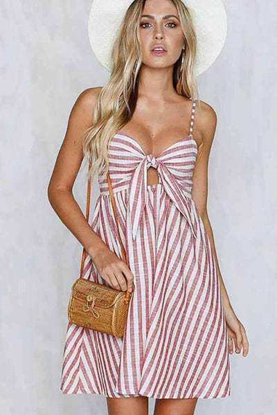 Candy Striped Mini Dress