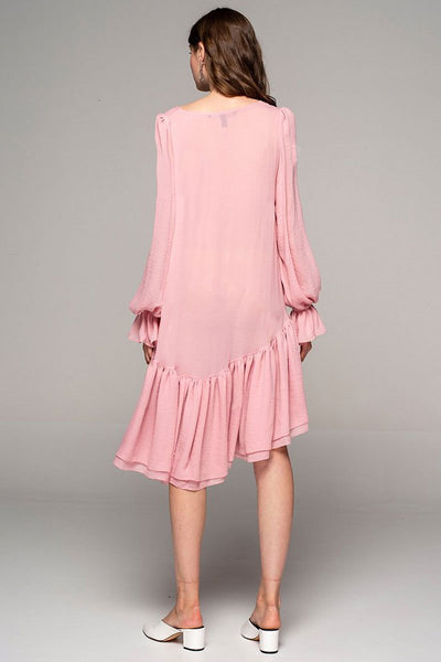 Dark Pink Viscose Dress