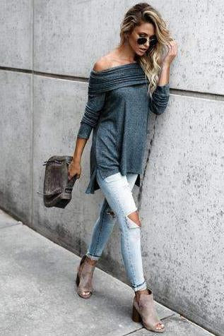 Ruffled Off-the-shoulder Blouse