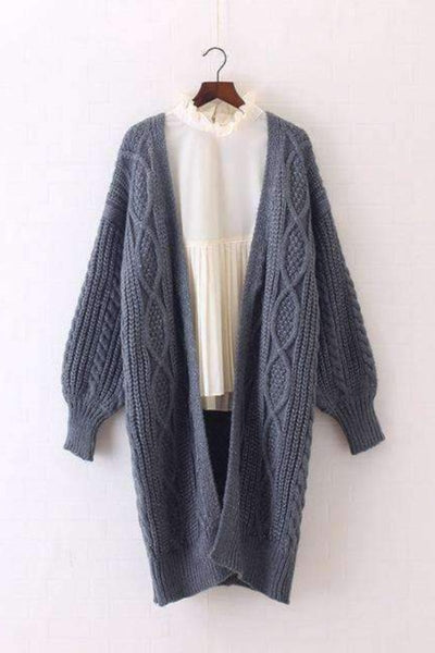 Longline Cosy Cable Knit Cardigan