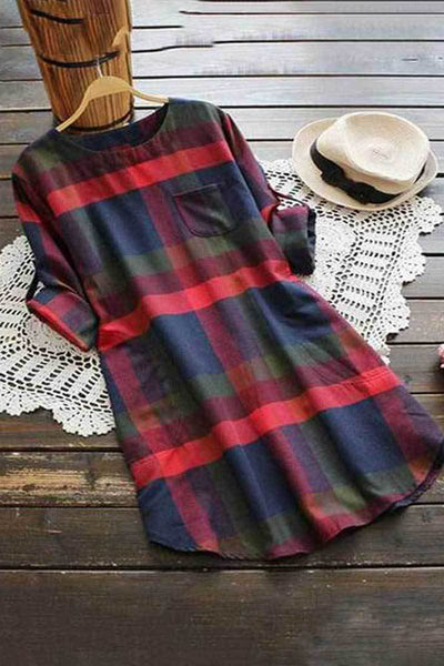 Tartan Shift Dress