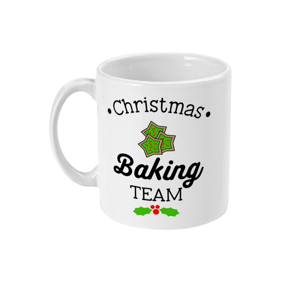 Red Berry Crafts Ltd:Christmas Baking Team 11oz Ceramic Mug