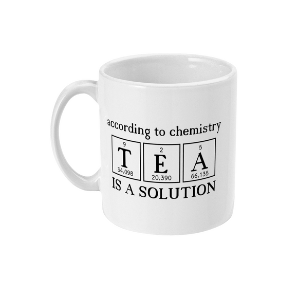 Red Berry Crafts Ltd:Tea is a Solution 11oz Ceramic Mug