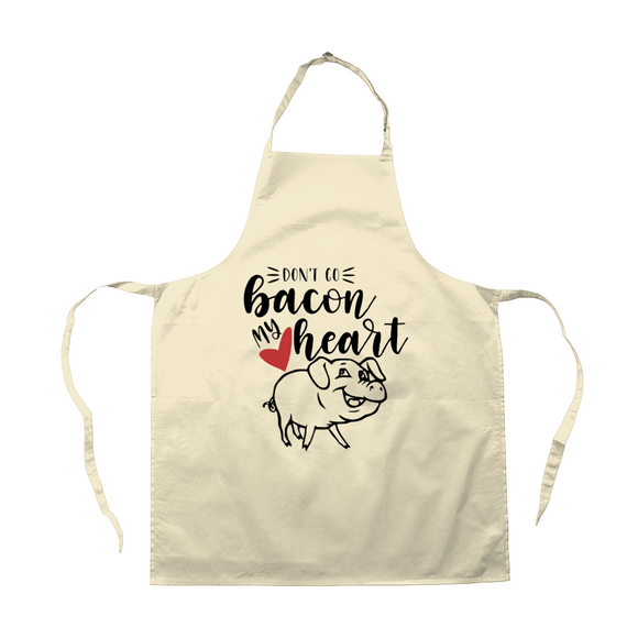 Red Berry Crafts Ltd:Don't Go Bacon My Heart Apron