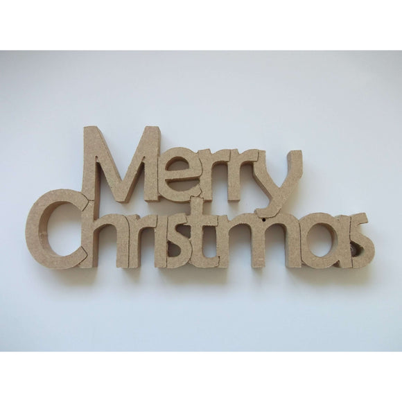 Red Berry Crafts Ltd:Merry Christmas Freestanding Phrase