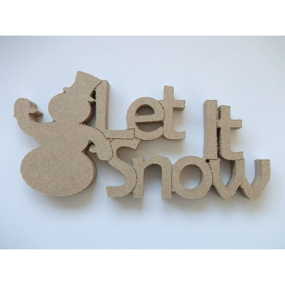 Red Berry Crafts Ltd:Let it Snow Freestanding Phrase