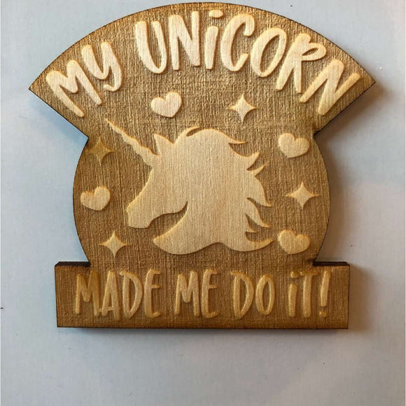 Red Berry Crafts Ltd:Unicorn made me do it Magnet