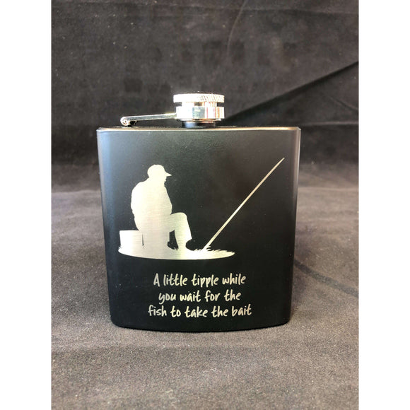 Red Berry Crafts Ltd:Fishing Hip Flask