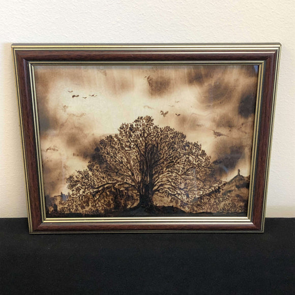 Red Berry Crafts Ltd:Pyrographed 10 x 8 Inch Landscape Picture