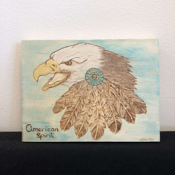 Red Berry Crafts Ltd:Pyrographed American Eagle