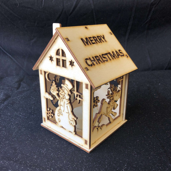 Red Berry Crafts Ltd:Christmas Tealight House