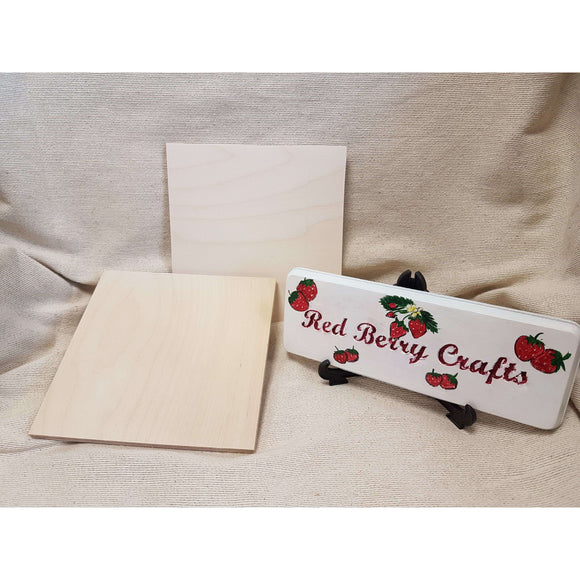 Red Berry Crafts Ltd:12mm Pyrography Square Blanks