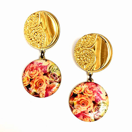 Golden Send Me Roses Earrings