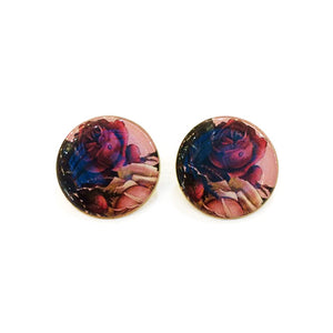 The Dark Wild Roses Earrings