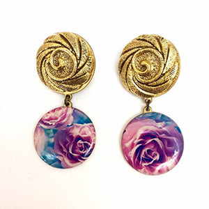 Vintage Roses Cold Roses Earrings