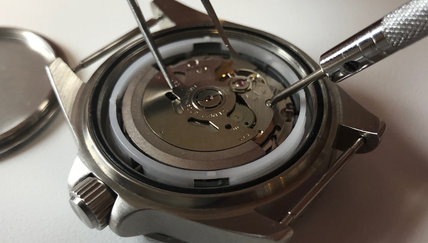 Enoksen - Blog Post - Picking the Right Movement - Breaking down a watch with tools image