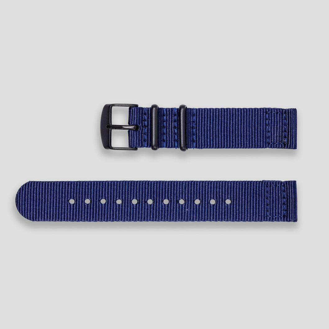 Enoksen Two-Piece NATO Nylon Strap (18mm) - Midnight Blue
