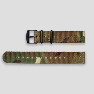 Enoksen Two-Piece NATO Nylon Strap (18mm) - Camouflage