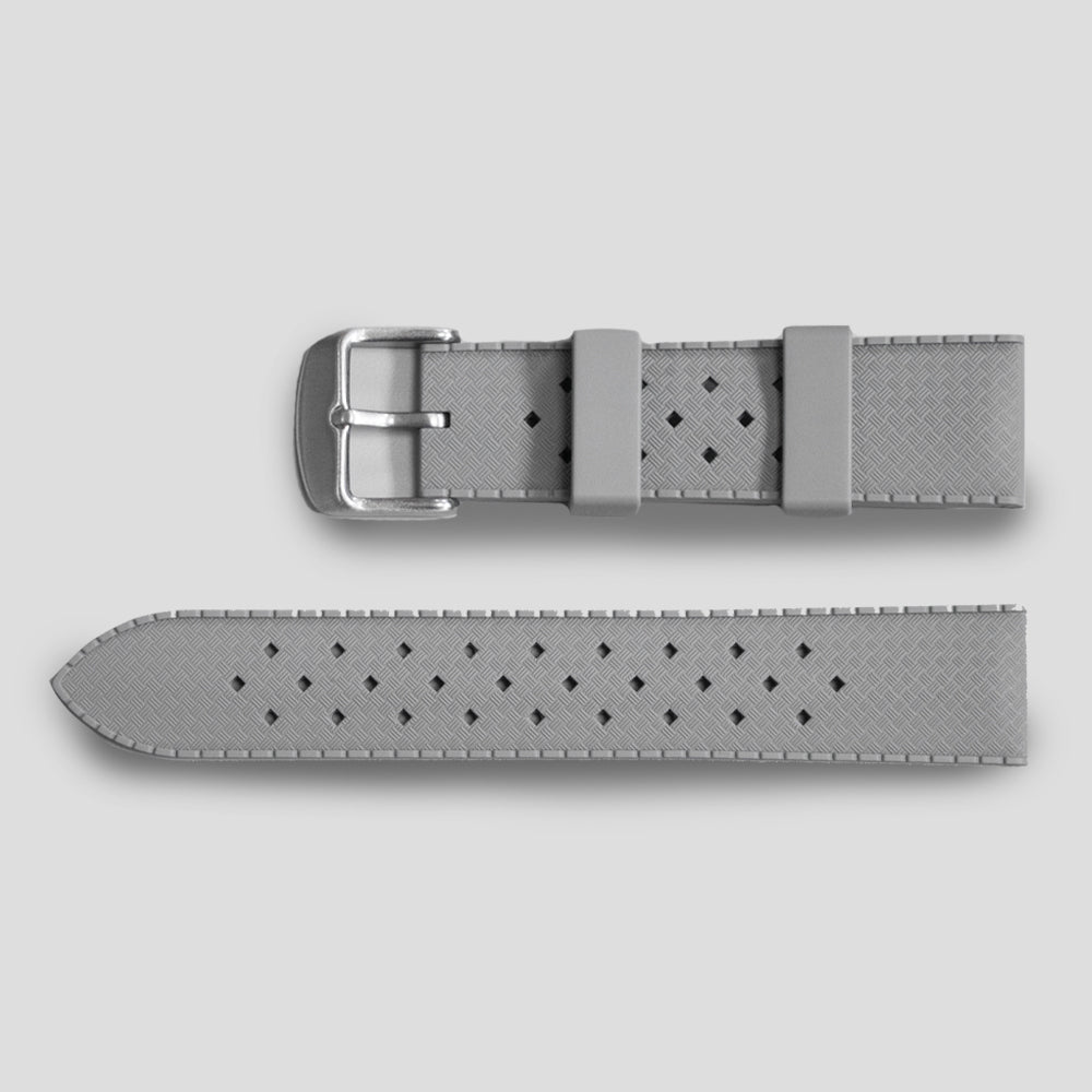 Enoksen Tropic-Style Rubber Strap (20 & 22mm) - Grey