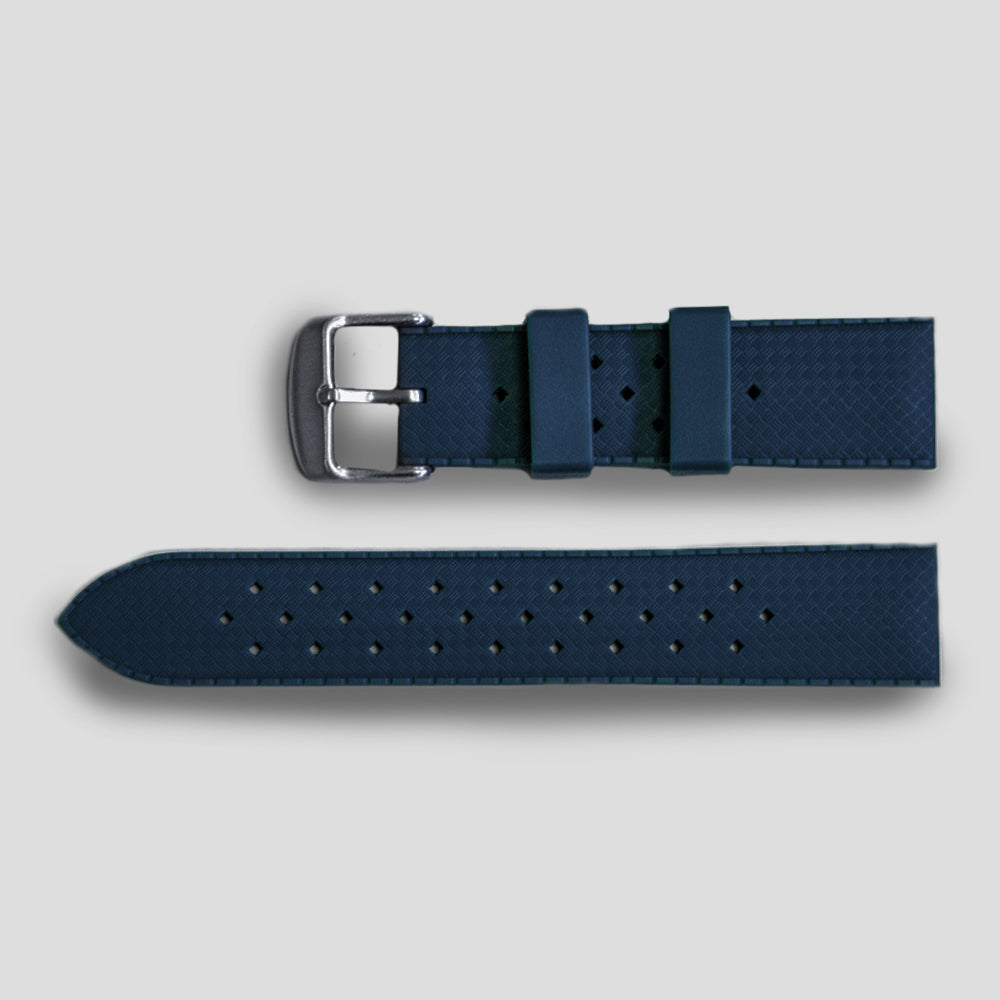 Enoksen Tropic-Style Rubber Strap (20mm) - Blue