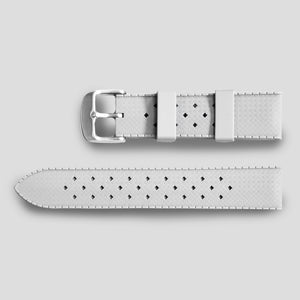 Enoksen Tropic-Style Rubber Strap (20mm) - White