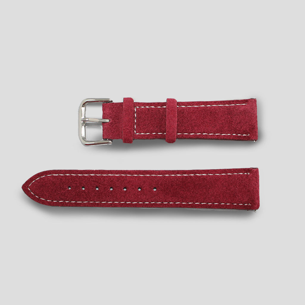 Enoksen Burgundy Suede Watch Strap (20mm)