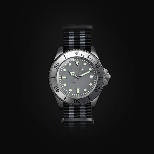Enoksen 'Dive' E02/D Monochrome - Silver & Black (41mm)