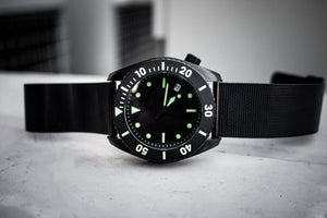 Enoksen Mesh PVD Black Steel Bracelet - 24mm