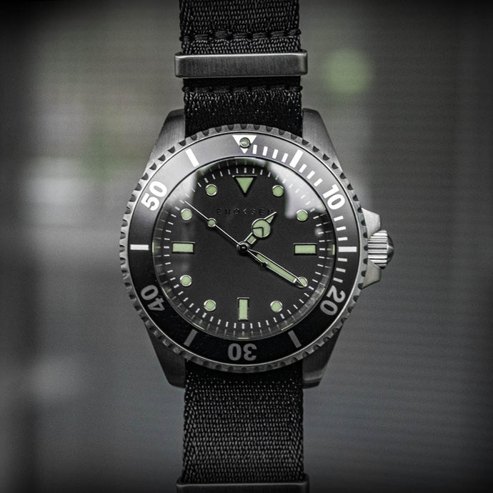 Enoksen 'Dive' E02/H Black - Duty Series - 41mm
