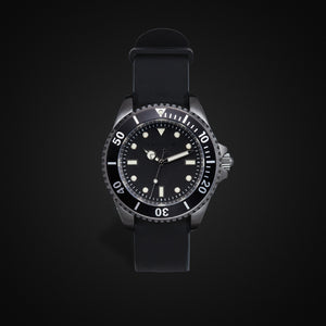 Enoksen 'Dive' E02/H Black - Hybrid Diver's Watch - 41mm