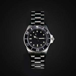 Enoksen 'Dive' E02/H Black Oyster - Hybrid Diver's Watch - 40mm