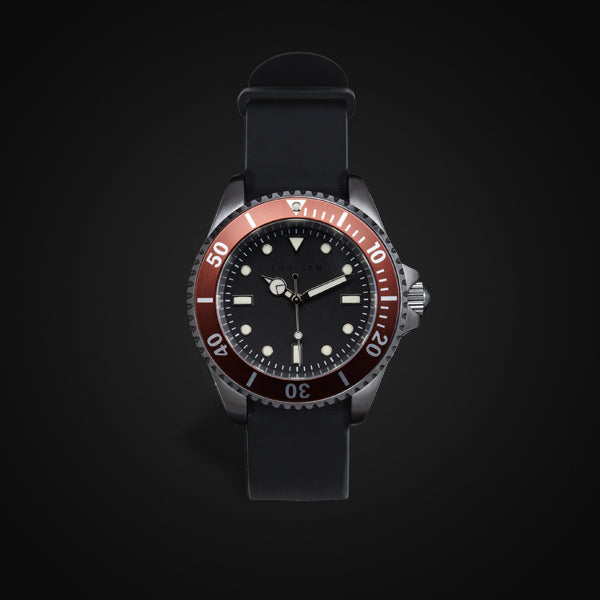 Enoksen 'Dive' E02/H Brown - Hybrid Diver's Watch - 40mm