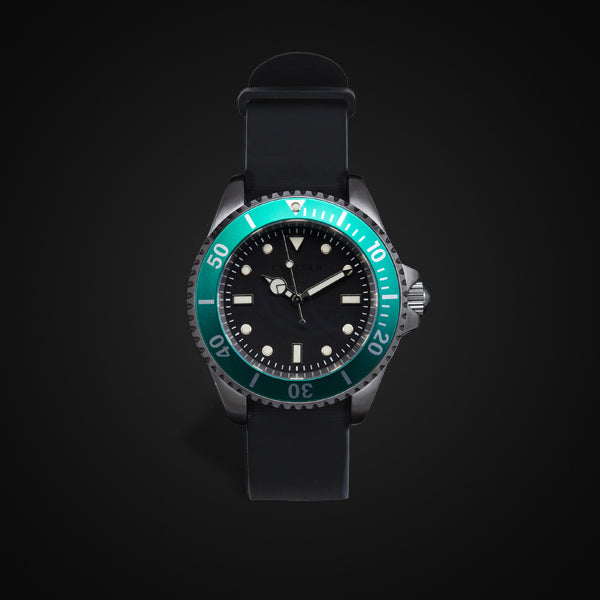 Enoksen 'Dive' E02/H Green - Hybrid Diver's Watch - 40mm