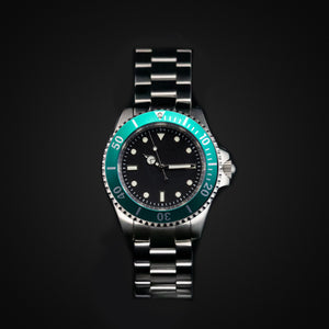 Enoksen 'Dive' E02/H Green Oyster - Hybrid Diver's Watch - 40mm