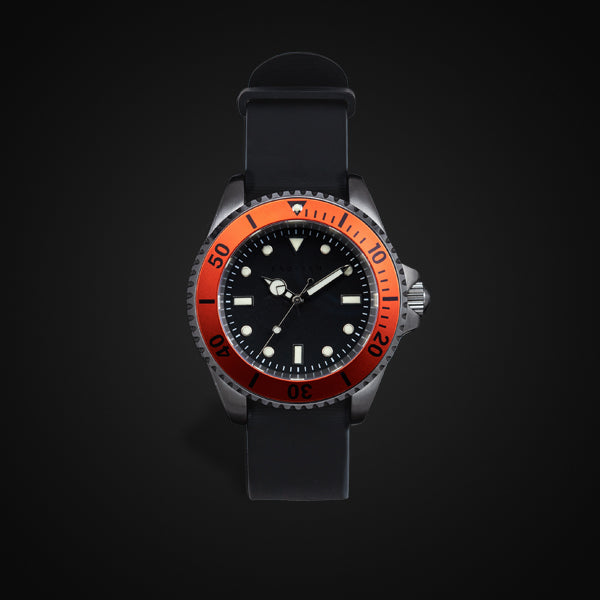 Enoksen 'Dive' E02/H Orange - Hybrid Diver's Watch - 40mm