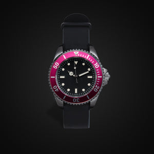 Enoksen 'Dive' E02/H Pink - Hybrid Diver's Watch - 40mm