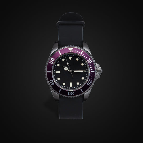 Enoksen 'Dive' E02/H Purple - Hybrid Diver's Watch - 40mm