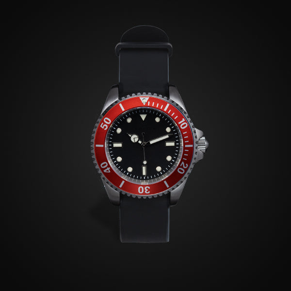 Enoksen 'Dive' E02/H Red - Hybrid Diver's Watch - 40mm