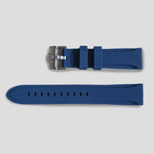 Enoksen Two Piece Rubber Watch Strap - Blue (20, 22 & 24mm)