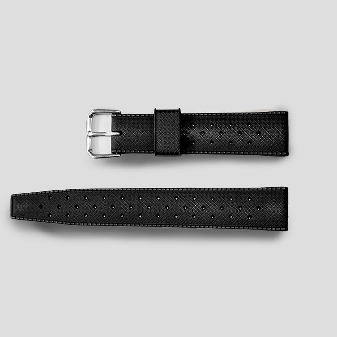 Enoksen Tropical Rubber Watch Strap (18, 20, and 22mm) - Black