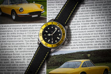 Enoksen Leather & Technical Cloth Strap - Yellow (20mm)