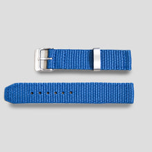 Enoksen Two-Piece Nylon Weave Strap (20mm) - Green / Blue / Black